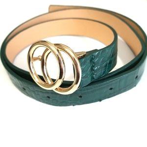 Accessories - Skinny Croc Belt